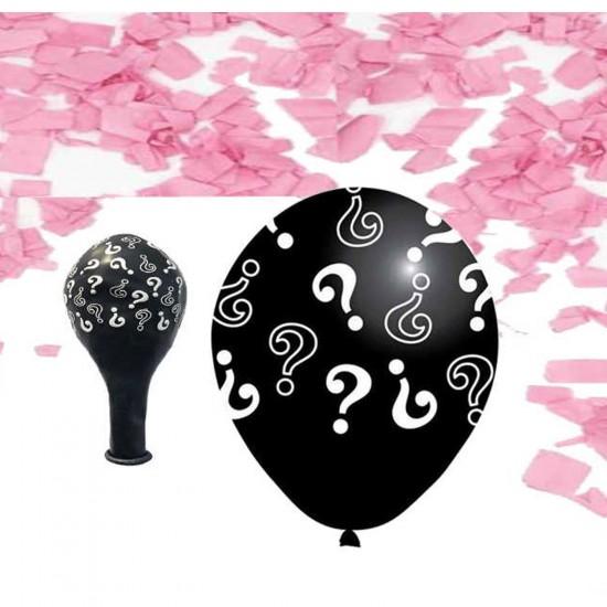 Cinsiyet Belirleme Balonu Konfeti Süslü (5 Adet)