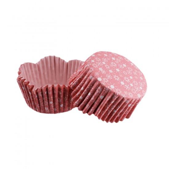 Cupcake Kalıbı Pet Kapsül Dalgalı Kek Kalıbı 65X38 MM (100 Adet)