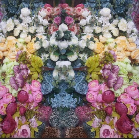 Yapay Çiçek Demet Gül Büyük Boy  (1 Demet)