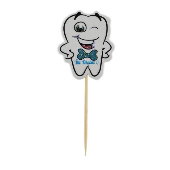 Diş Buğdayı İlk Dişim Kürdanlı Sticker (20 Adet)