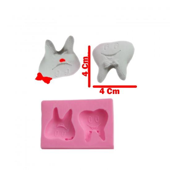 Diş Silikon Kalıp 4X4 (Diş Buğdayı Sabun Kalıbı)
