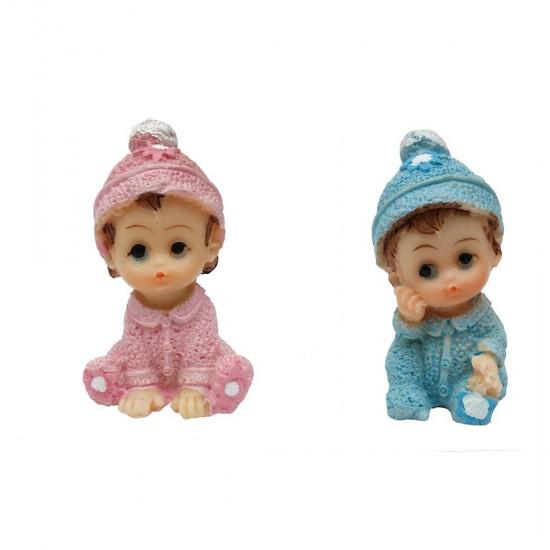 Bebek Şekeri Biblosu Sapkalı Simli Oturan (20 Adet)