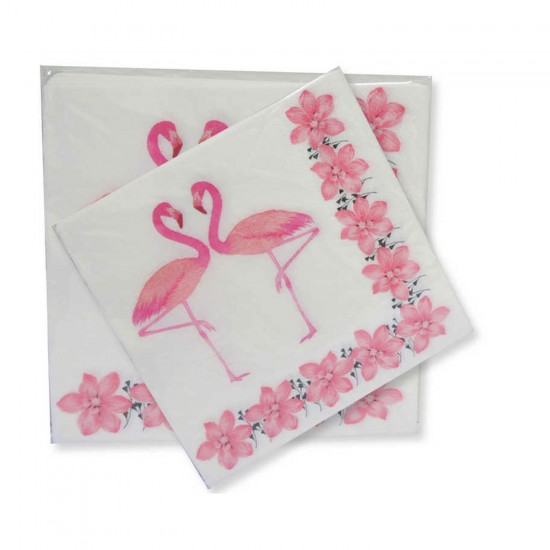 Flamingo Temalı Kağıt Peçete 33 CM X 33 CM (20 Adet)