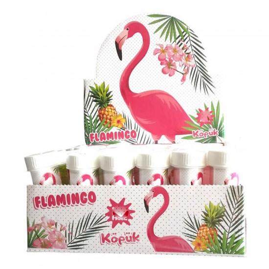 Flamingo Temalı Köpüklü Üflemeli Baloncuk (8 Adet)