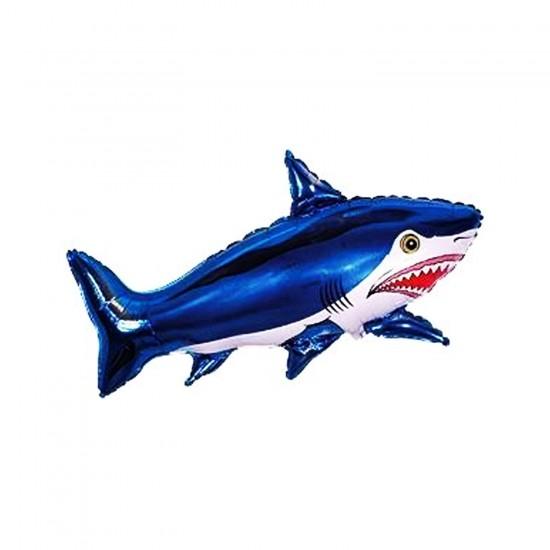Köpek Balığı Folyo Balon Balık Şeklinde Uçan Folyo Balon 80X33 CM