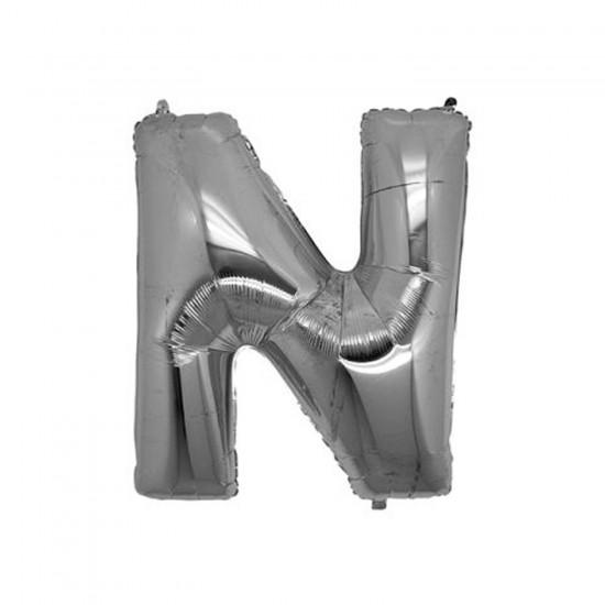 Folyo Balon Harf 90 Cm Gümüş - Folyo Alfabe