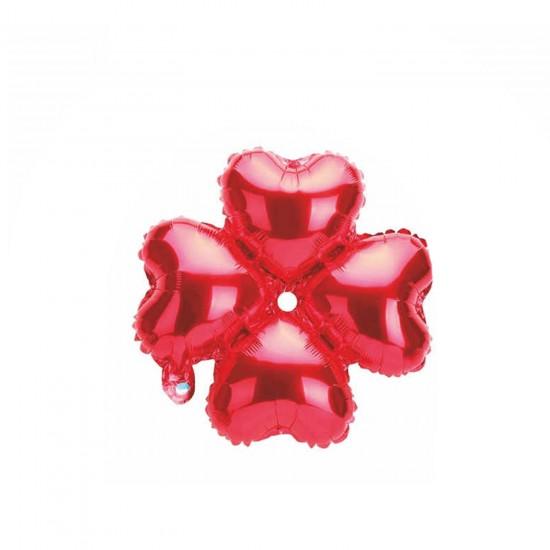 Folyo Balon Kalp Çiçek Modeli 32 CM