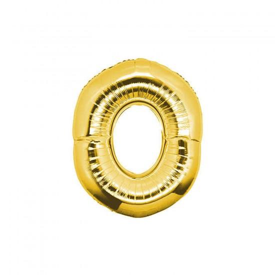 Folyo Balon Rakam 90 Cm Altın