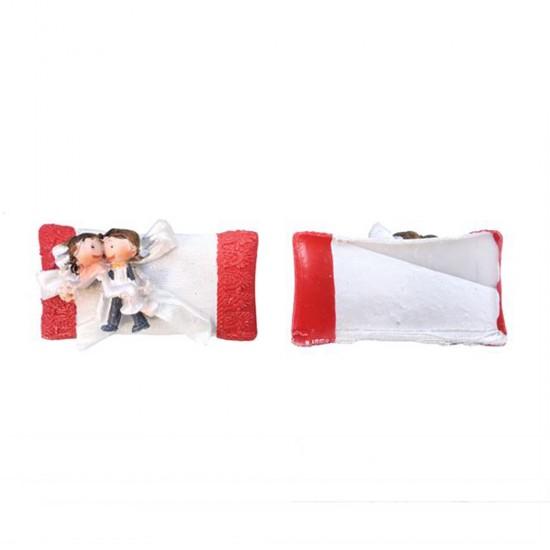 Gelin Damat Kırmızı Yastık Üzerinde (20 Adet)