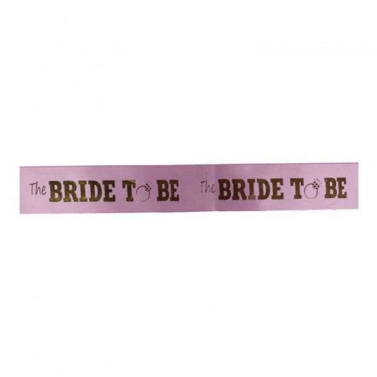 Gelin Kuşağı Altın Varaklı The Bride To Be 6 CM X 2 MT Kurdele