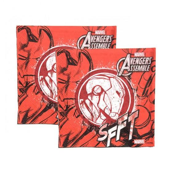 Iron Man Temalı Kağıt Peçete 33X33 Cm (20 Adet)