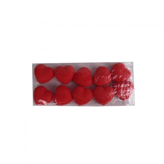Işıklı Plastik Kalp Hediyelik 7X7 CM (10 Adet)