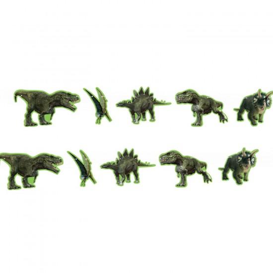 Jurassic Temalı Flama Bayrak Seti Özel Kesim Figürler 250 CM