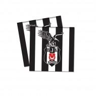 Beşiktaş  Temalı Kağıt Peçete 33X33 Cm (16 Adet)