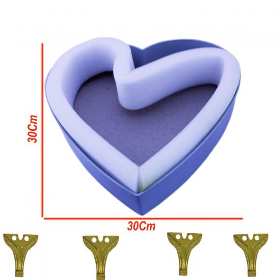 Kalp Tesbih ve Havlu Kutu İskeleti (30 CM X 30 CM)