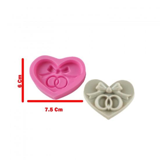 Kalpte Yüzük Silikon Kalıp 6X7.5 CM
