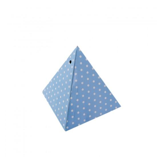 Karton Lokumluk Puantiyeli Üçgen Piramit Modeli (50 Adet)