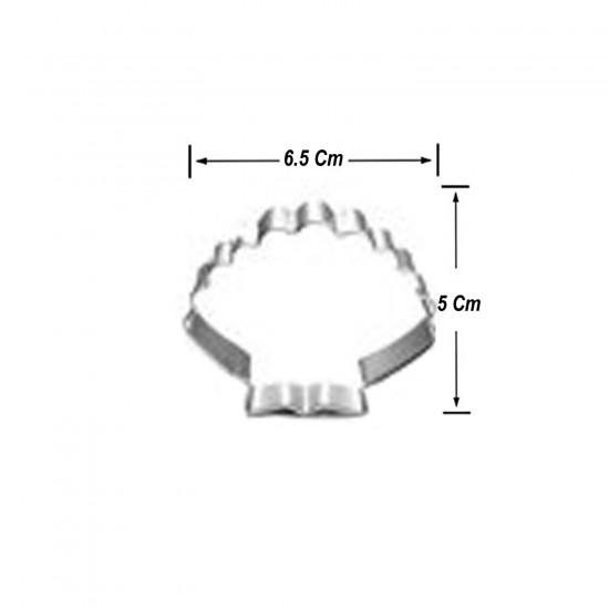 Kek Kurabiye Ve Pasta Kalıbı Metal Şekilli  Deniz Kabuğu 6.5X5 CM