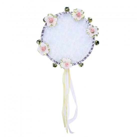 Kına Tefi Dantelli Lazer Çiçek Süslemeli  Çıngırak Zilli