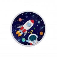 Kozmik Galaksi Temalı Karton Tabak Astronot Baskılı 23CM (8 Adet)