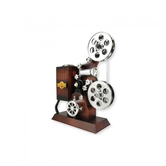 Kurma Mekanizmalı Müzik Kutusu Hediyelik Film Makinası Rulolu