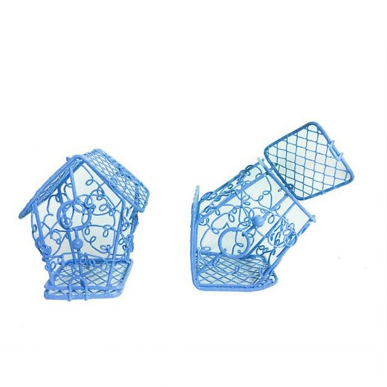 Kuş Kafesi Telden Ev Modeli (10 Adet)