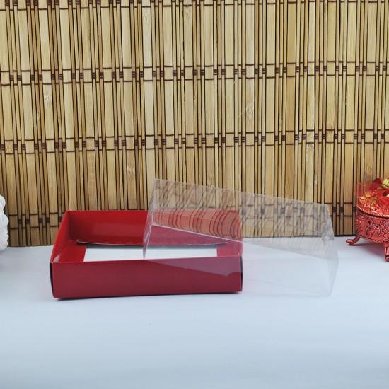 Asetat Kapaklı Karton Kutu 15X15X3 (50 Adet)