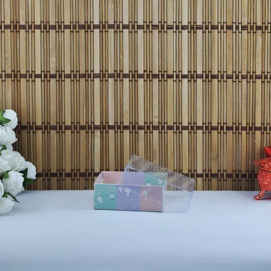 Asetat Kapaklı Karton Kutu Ördek Ve Tavşanlı 8X8X3 (50 Adet)