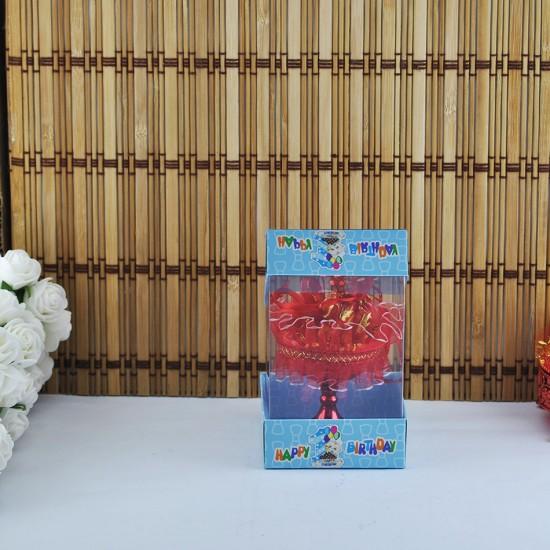 Çift Kartonlu Asetat Kutu Happy Birthday 7X7X11 (50 Adet)