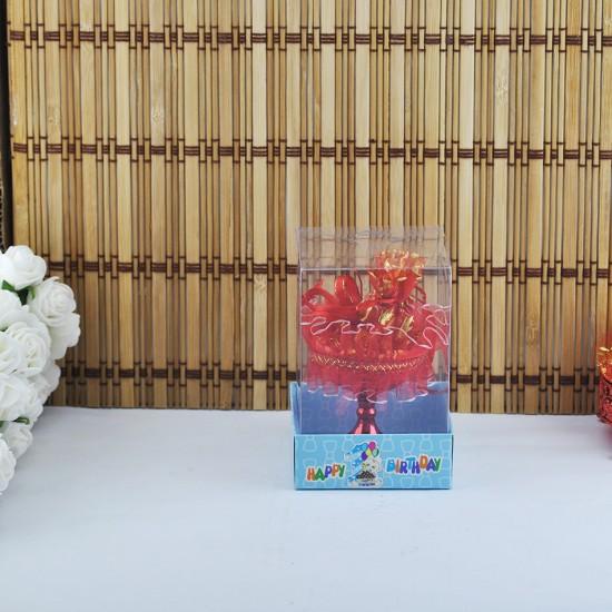 Karton Tabanlı Asetat Kutu Happy Birthday 7X7X11 (50 Adet)