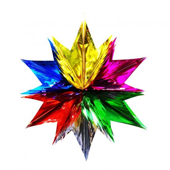 Metalize  Folyo Parlak Yıldız  Üç boyutlu  Süs 171