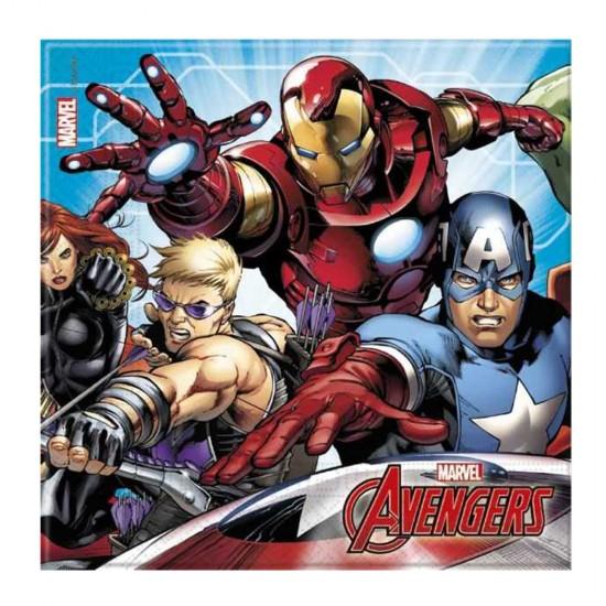 Mighty Avengers Temalı Kağıt Peçete 33X33 Cm (20 Adet)