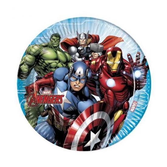 Mighty Avengers Temalı Karton Tabak 23 Cm (8 Adet)