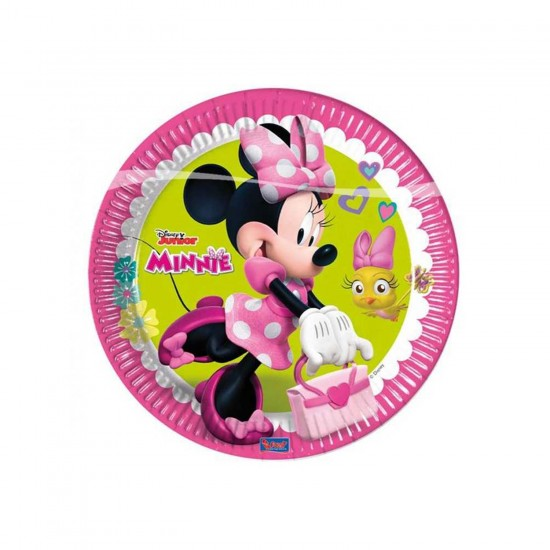 Minnie Mause Happy Helpers Temalı Tabak 23 CM (8 Adet)