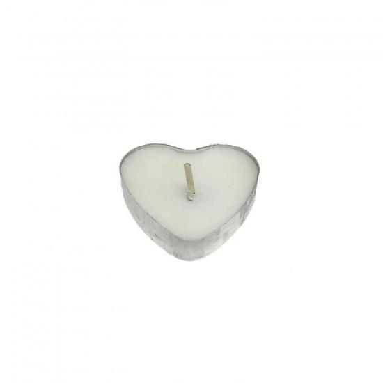 Kalp Tealight Mum Kalp Modeli (50 Adet)