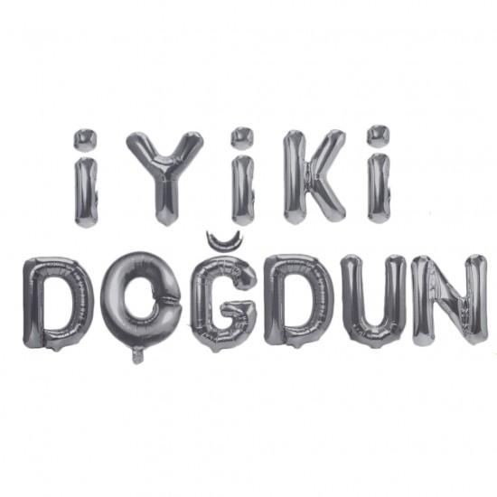 Folyo Balon İyiki Doğdun Yazılı 40 CM