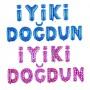 İyiki Doğdun Folyo Balon Pembe / Mavi
