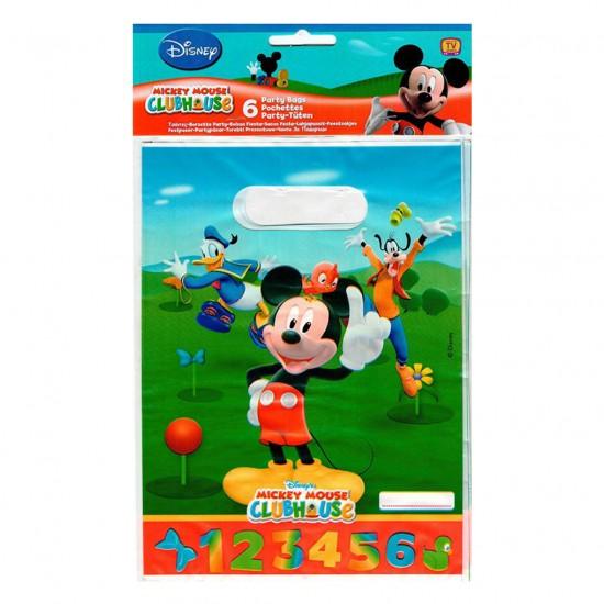 Mickey Mouse Temalı Parti Çantası (6 Adet)