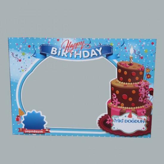 Çerçeve Hapy Birthday Çift Taraflı (5 Adet)