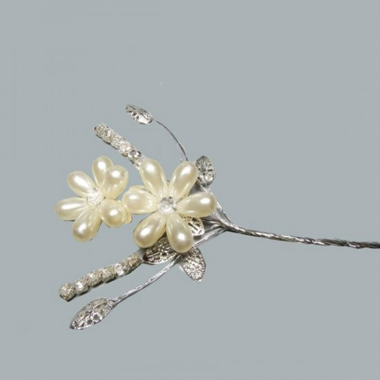 Çiçek İncili Taşlı Yapraklı (10 Adet)