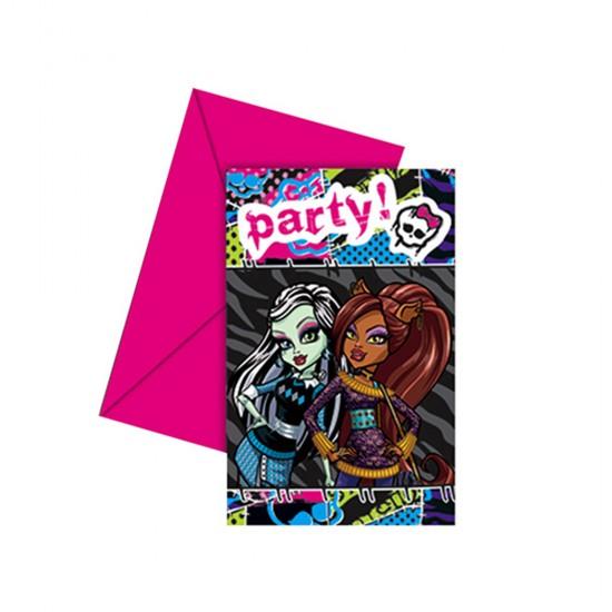 Monster Hig Parti Davetiyesi (6 Adet)