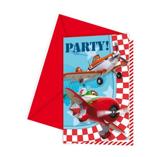 Planes Parti Davetiyesi (6 Adet)