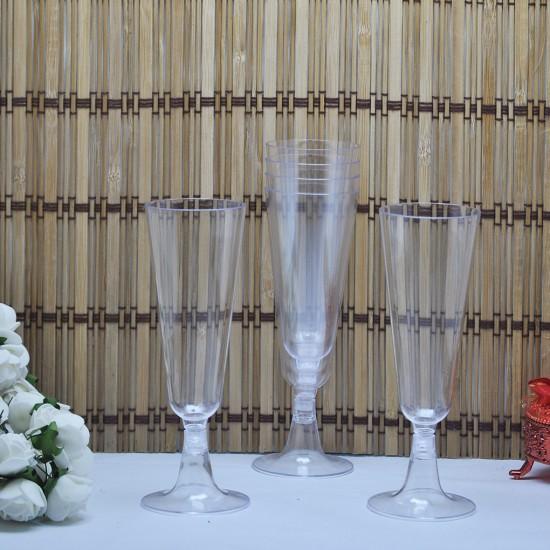 Plastik Şampanya Bardağı Büyük (6 Adet)