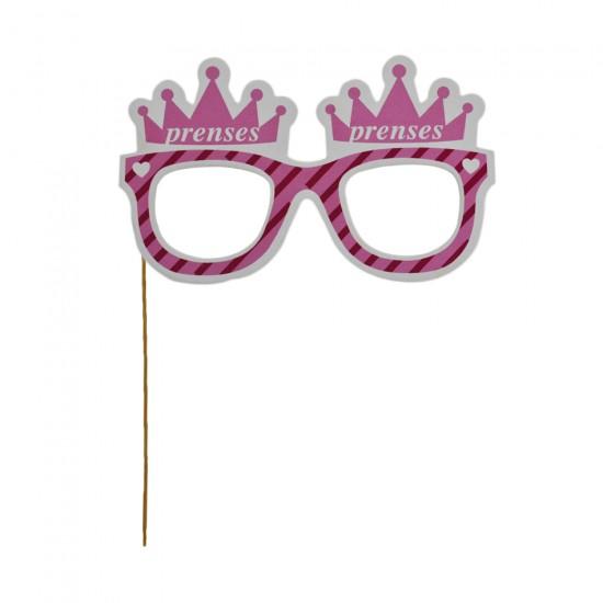 Çubuklu Gözlük Prens / Prenses (5 Adet)