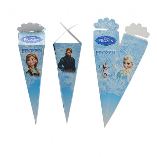 Şeker Külahı Karton Frozen Temalı (50 Adet)