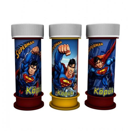 Superman Temalı Köpüklü Üflemeli Baloncuk (8 Adet)