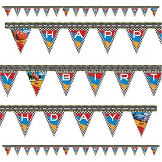 Cars Temalı Happy Birthday Uzar Harf Afiş Duvar Yazısı