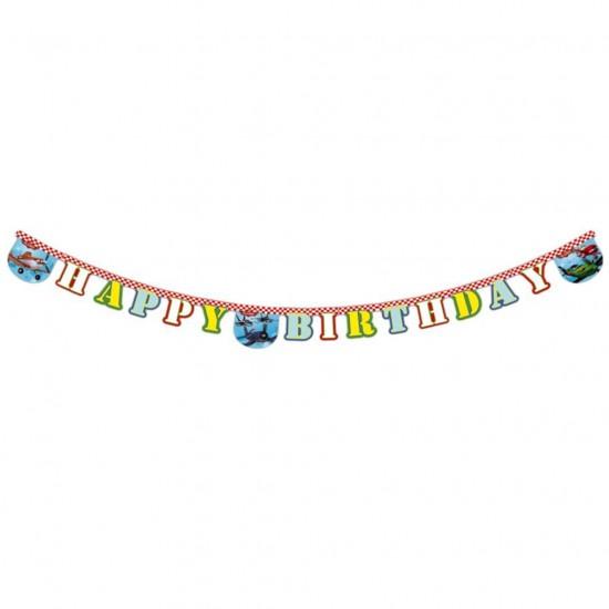 Planes Uçak  Happy Birthday Uzar Harf Afiş Duvar Yazısı