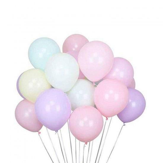 Pastel Düz Balon (Makaron Balon)12 İnc Karışık Renk (100 Adet)
