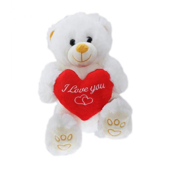 Peluş Ayı I Love You Yazılı Kalpli  26 Cm